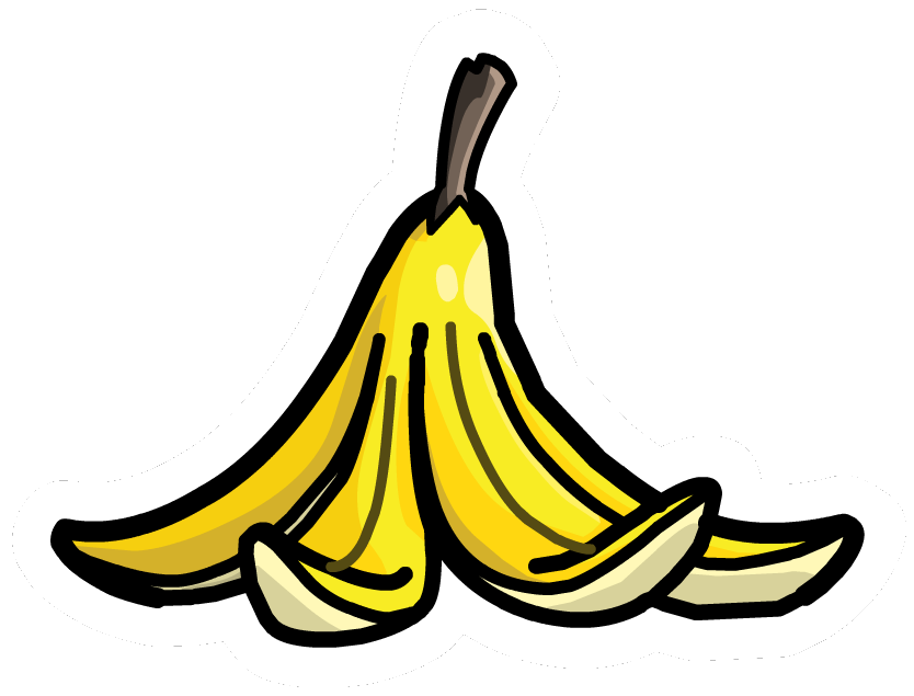 picture freeuse stock Pin club penguin wiki. Bananas vector banana peel