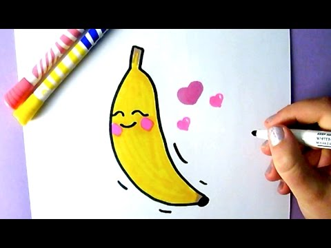 vector free stock Food how to draw. Bananas drawing cute