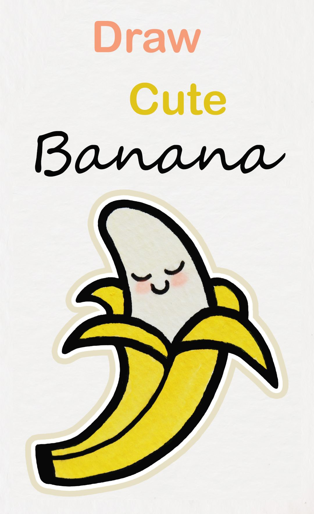 graphic freeuse library Bananas drawing cute. Learn how to draw