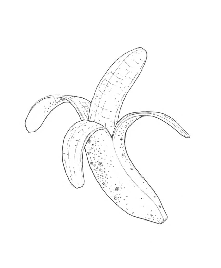png royalty free library How to draw a. Bananas drawing ink