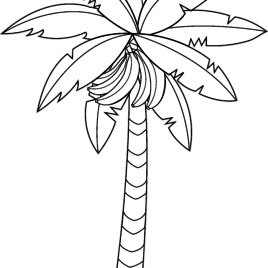 clip art black and white stock Banana outline encode clipart. Bananas drawing tree