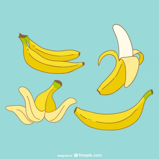 black and white Bananas vector banana peel. Free vectors in art