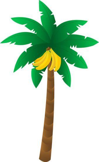 clipart black and white Bananas vector banana tree. Tropical blomme en bome