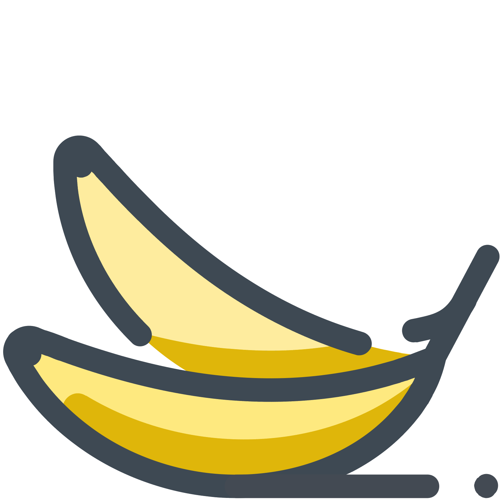 image freeuse library Banana icon best ideas. Bananas vector flat design