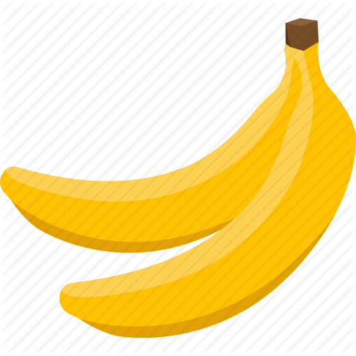 clip freeuse stock Bananas vector flat design. Illustrative palpable food drink