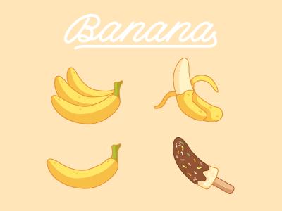 image black and white stock Bananas vector flat design. Banana set by alba
