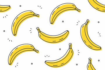 jpg freeuse download Bananas vector illustrator. Seamless pattern illustration buy