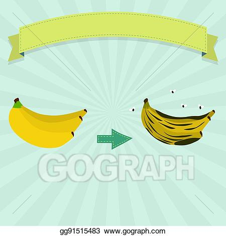 clipart freeuse stock Eps stock clipart illustration. Bananas vector rotten banana