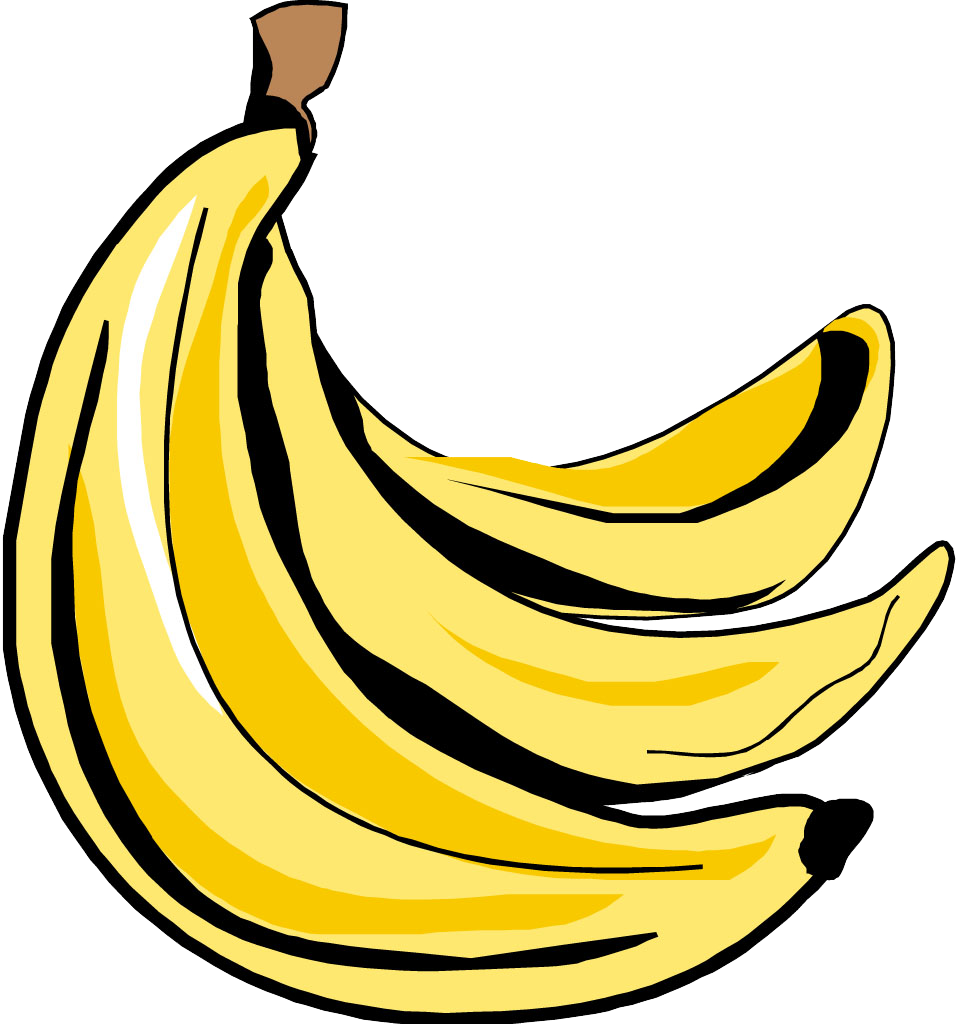 svg black and white download Bananna clip. Banana art transprent png