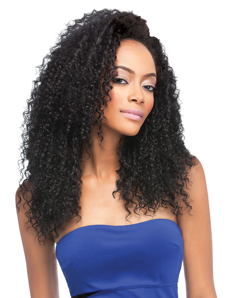 vector transparent library Bananna clip curly hair. Outre quick weave half