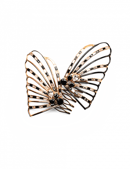 clipart library library Hair clips the butterfly. Bananna clip rhinestone