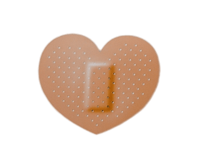 image black and white library Heart Shaped Band Aid transparent PNG
