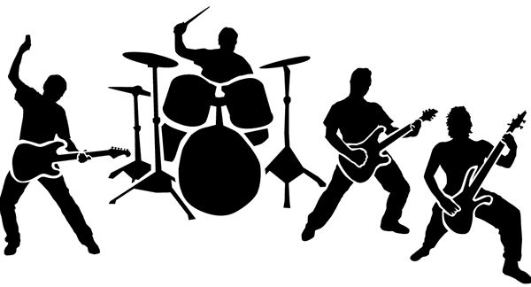 clipart free Rock band clipart silhouette. Vector bands music
