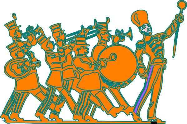 svg freeuse Marching clip art at. Band clipart