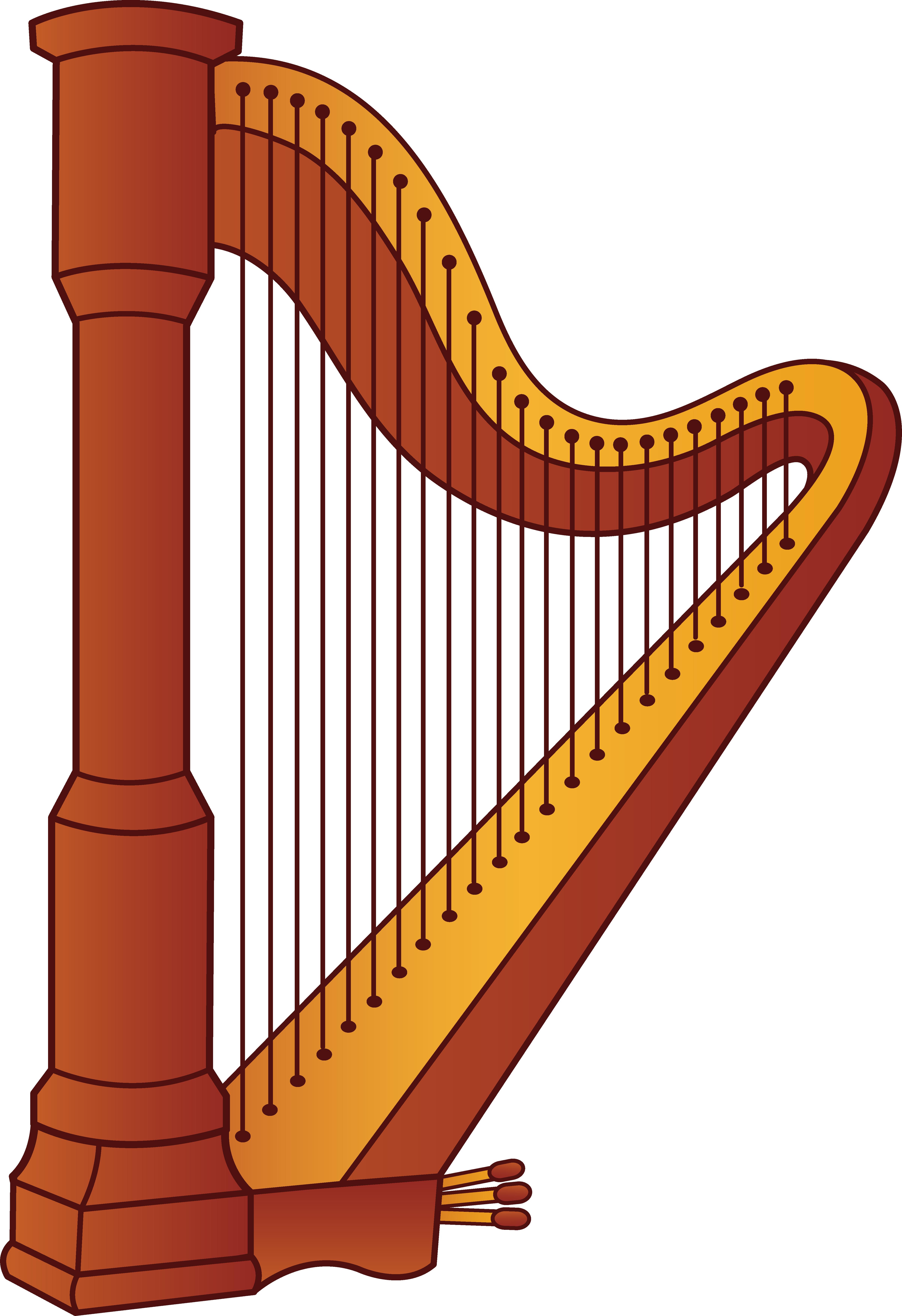 banner Harp Musical Instrument