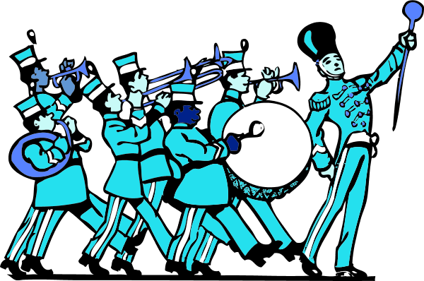 image freeuse download Vector band clip art. Norwood marching meeting and