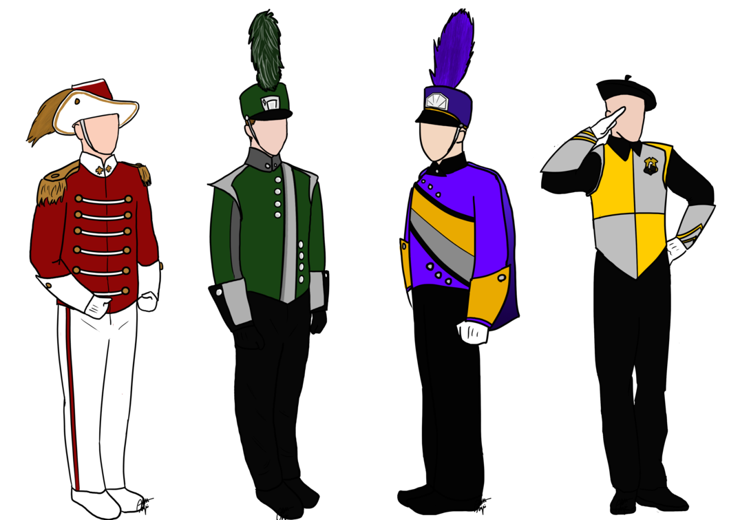 png freeuse library Harry potter marching uniforms. Vector band person