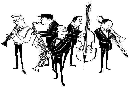 banner freeuse stock Clip art net . Jazz clipart light music
