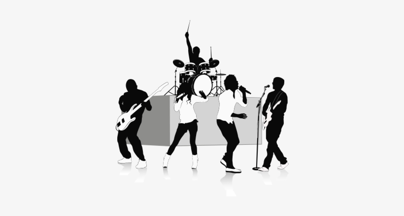 vector black and white Music band png hd. Vector bands indie
