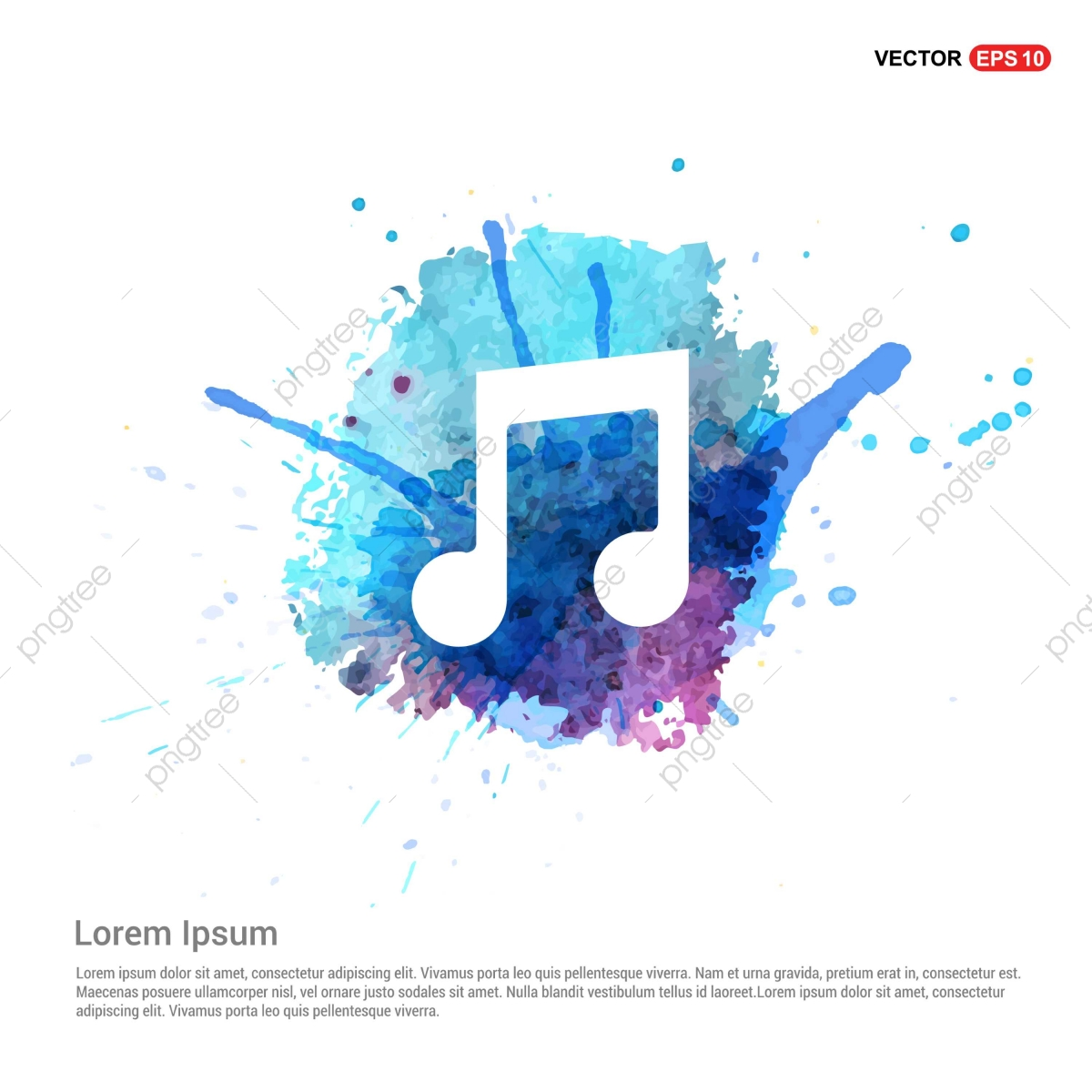 banner library download Vector band banner. Music note icon watercolor