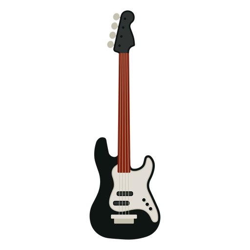 jpg black and white Bass svg vector. Guitar musical instrument icon