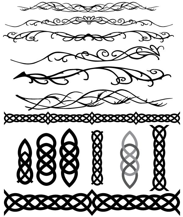 clip download And elvish decoration flourish. Vector bands celtic pattern