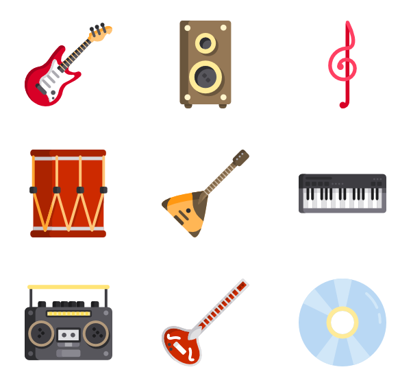 clip art library library Musical icons free music. Vector band instrument