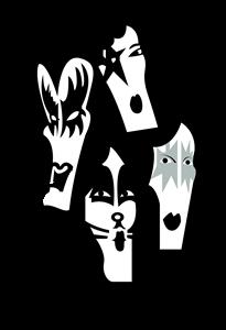 image free library Vector bands kiss. Logo vectors free download