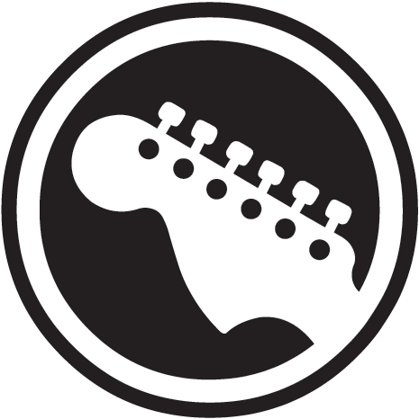 png library download Rock guitar logo music. Vector band minimalist