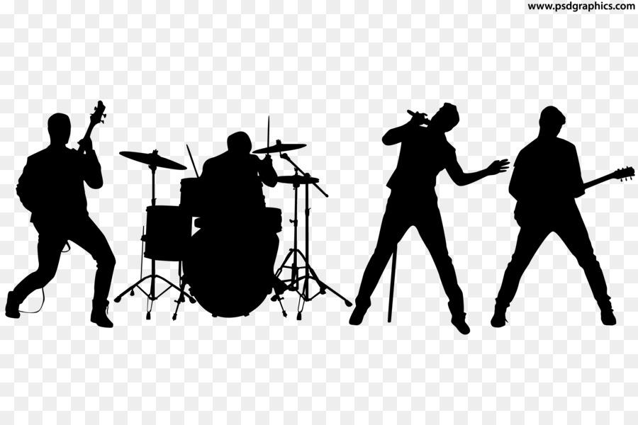 clip transparent download Vector band shadow. Rock clip art musical