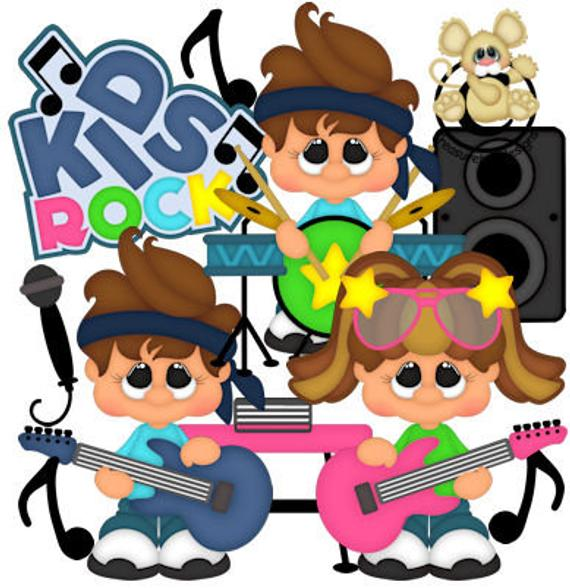transparent library Band rocker graphics digital. Vector bands kids rock