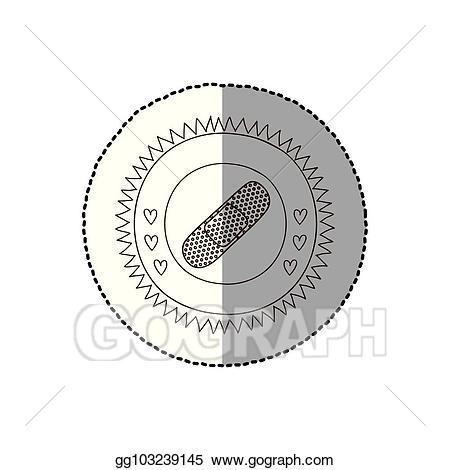 image royalty free download Vector band shadow. Art monochrome circular frame