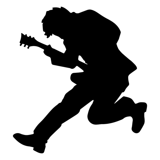 vector royalty free stock Guitarist jumping transparent png. Vector band silhouette