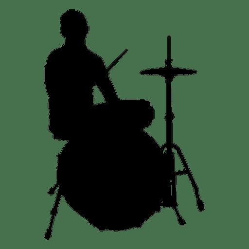 vector free download Drummer silhouette rock png. Drums transparent svg