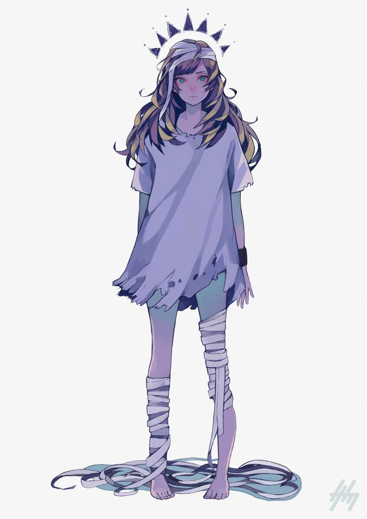 graphic transparent library Bandage drawing anime. Animegirl bandages in art