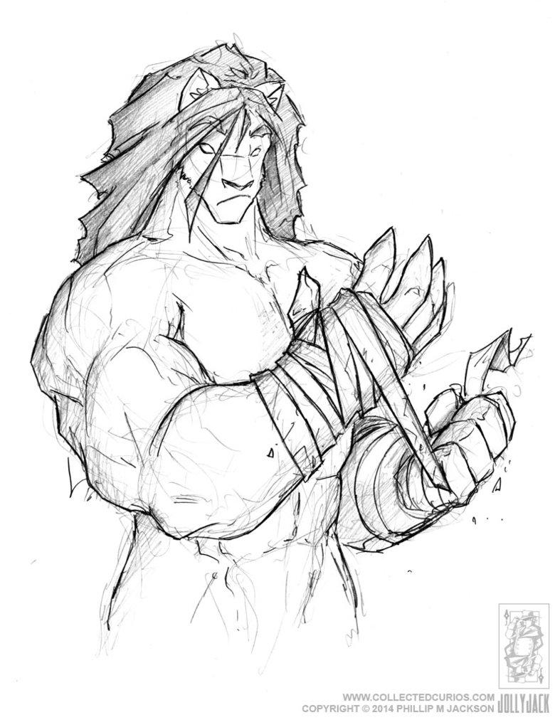 vector Bandage drawing beast.  interesting