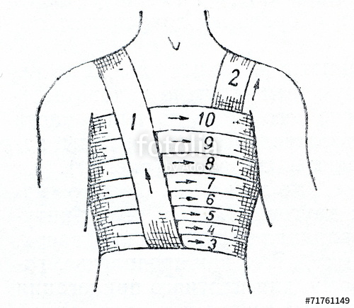 png free Spiral of stock photo. Bandage drawing chest