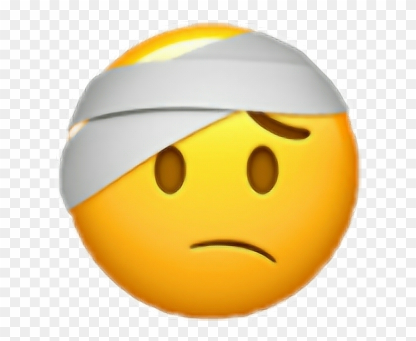 banner transparent library Bandage drawing emoji. Sticker face with head