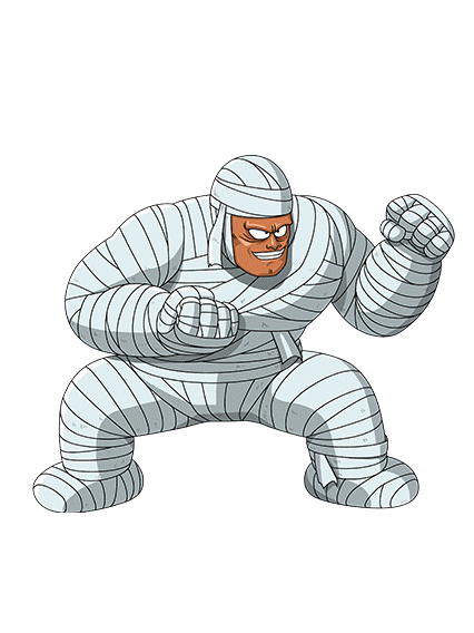 clipart freeuse Bandages the mummy render. Bandage drawing muscular