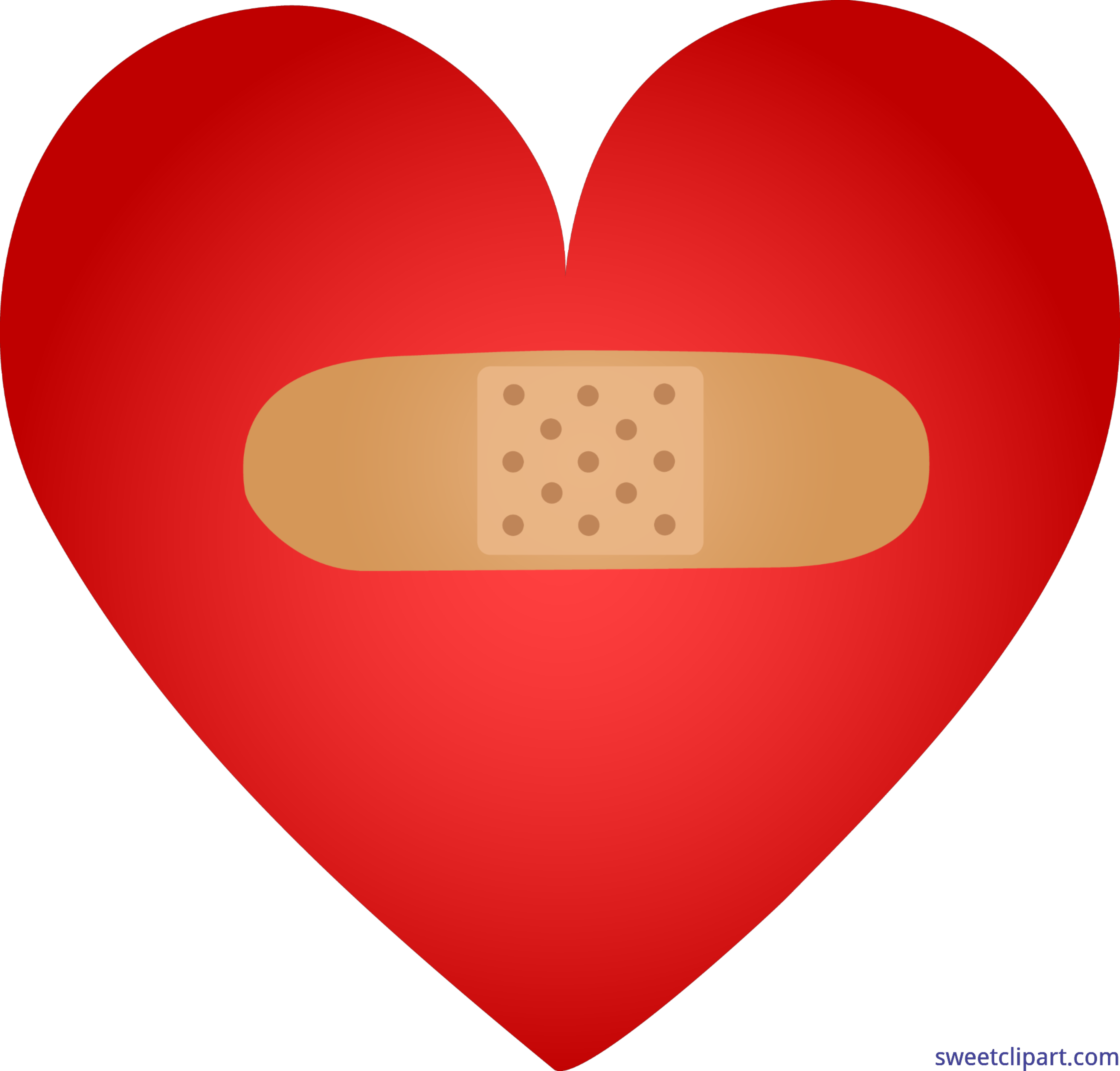 banner free Bandaid clipart number. Heart clip art sweet.