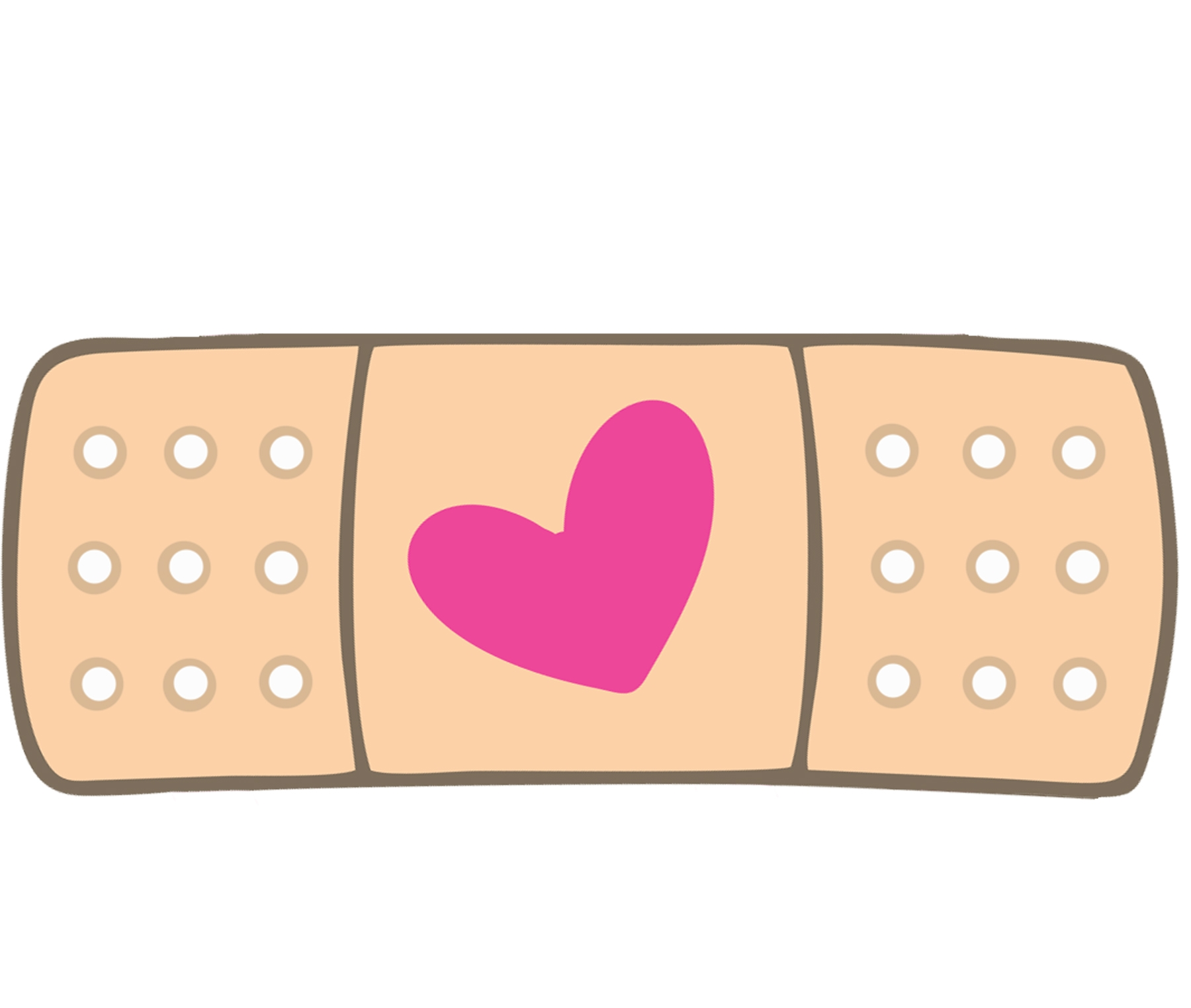image library Bandaid clipart number. New band aid design.