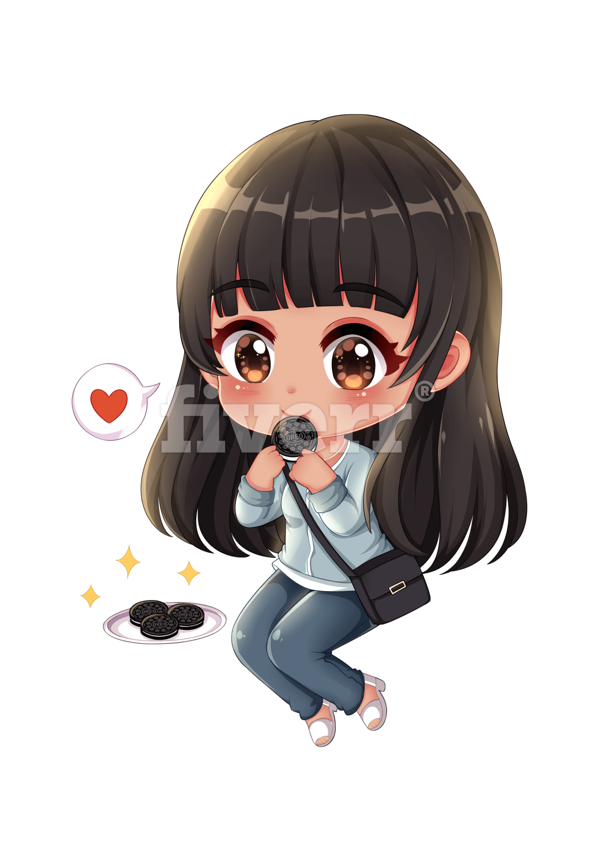 free stock Draw cute chibi for you by Tamsk