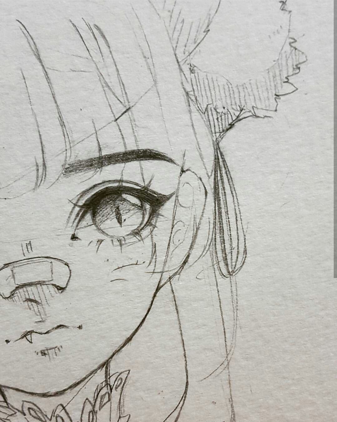 stock Introduction to pencil supplies. Bandage drawing anime