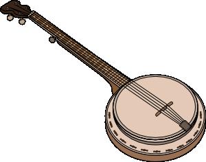 image transparent Clip art at clker. Banjo clipart