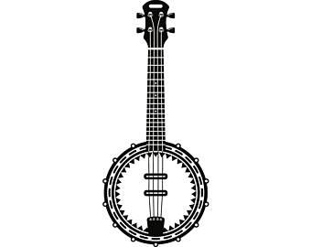 svg free library Etsy . Banjo clipart.