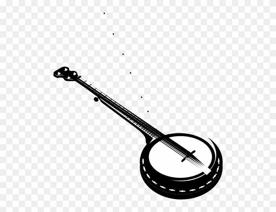 picture royalty free Banjo clipart. Banner library stock crossed.
