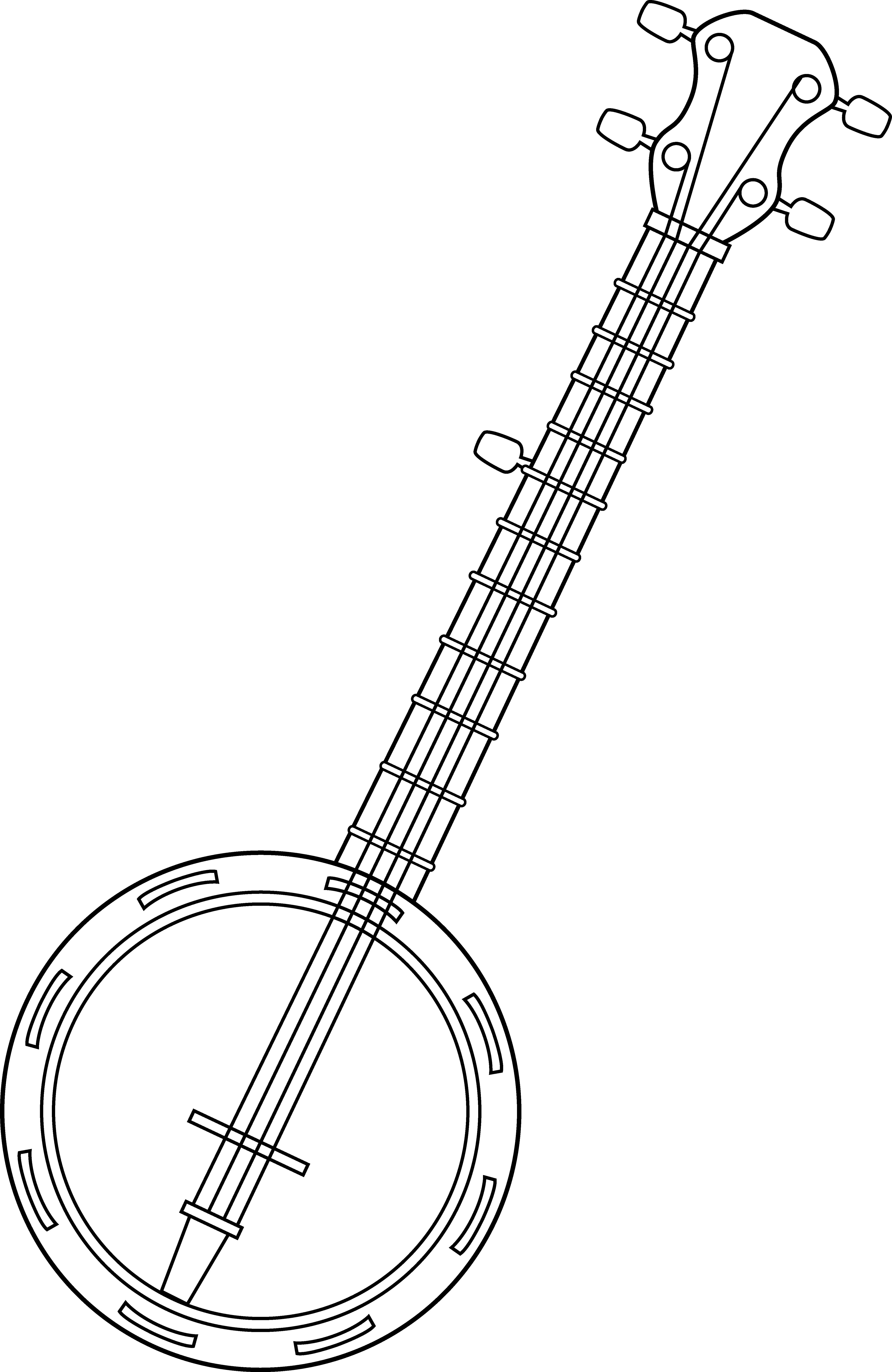 jpg Banjo Colorable Line Art