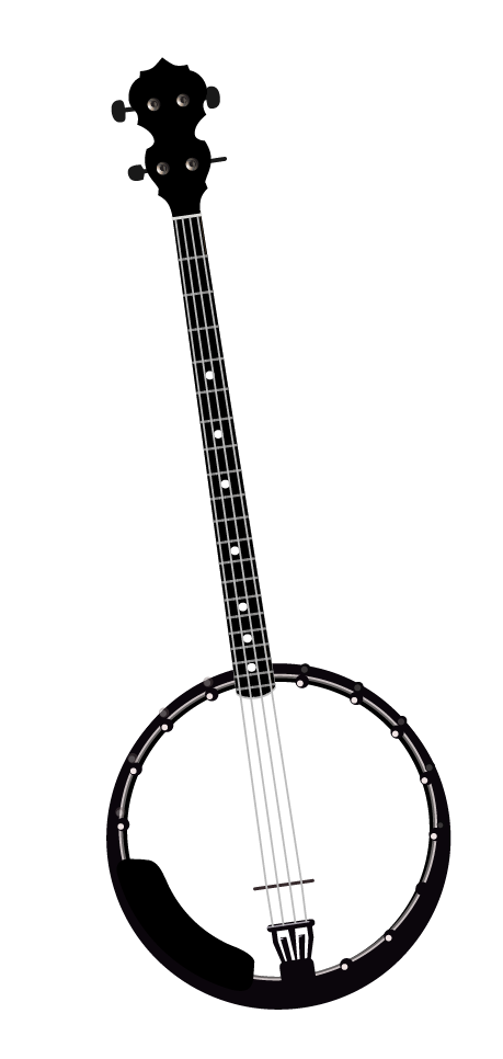 banner free download Home galax rex fest. Banjo clipart black and white.
