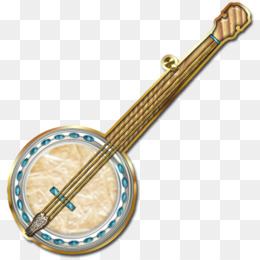 clip black and white stock Banjo clipart crossed. Transparent free for .