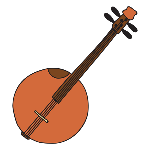 clipart black and white stock Musical instrument doodle transparent. Banjo vector.